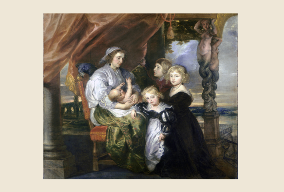 ルーベンス-Deborah Kip, Wife of Sir Balthasar Gerbier, and Her Children